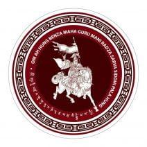 Abtibild cu Regele Gesar din Ling, remediu feng shui pentru depasirea obstacolelor