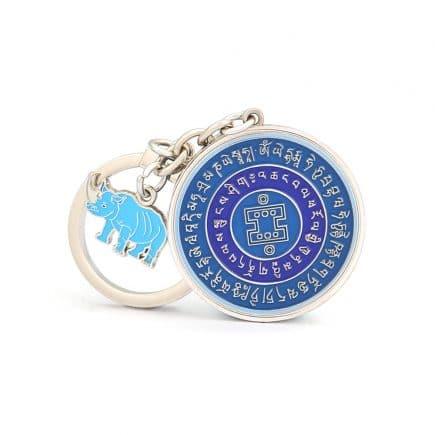 Amuleta de protectie cu elefant si rinocer-5559