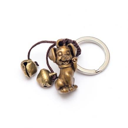 Amuleta cu caine si clopotei, remediu Feng Shui pentru bunastare