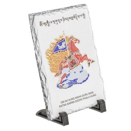 Tablou (placa, placheta) cu Cal de vant rosu - Lung Ta - pentru succes-5794