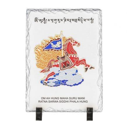 Tablou (placa, placheta) cu Cal de vant rosu - Lung Ta - pentru succes-0