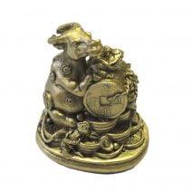 Bivol cu monede, nod mistic si broasca norocoasa, remediu Feng Shui pentru abundenta si prosperitate
