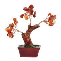 Copac cu agate pe suport