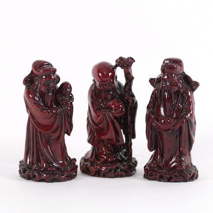 Fuk Luk Sau colorati, remediu Feng Shui pentru armonie, fericire, longevitate si bunastare.