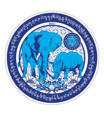 Abtibild cu Elefant si Rinocer albastri-0