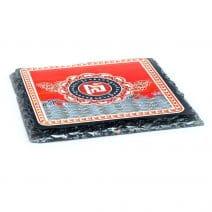Placa (placheta) de protectie cu elefant si rinocer - placa cu pachidermele albastre-5313