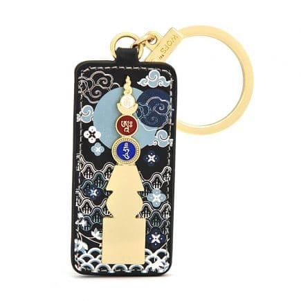 Amuleta - Pagoda celor 5 Elemente cu silaba OM AH HUM-0