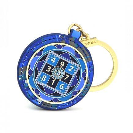 Amuleta amplificatoare a sumei lui 10 - Amuleta suma 10 albastra cu patratul magic-0