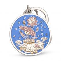 Amuleta Anului 2020 cu Sobolan, Lotus si Dragon-0