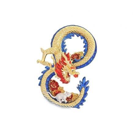 Amuleta cu Dragon si Sobolan - Mangusta in forma de cifra 8 (opt)-0