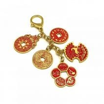 Amuleta de succes si prosperitate cu 5 (cinci banuti) monezi -5613