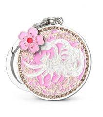 Amuleta iubirii si a norocului in dragoste - vulpea alba cu cele 9 cozi si floarea de dragoste-0