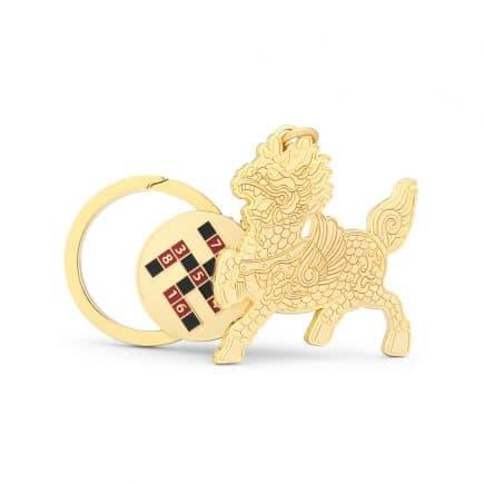 Amuleta de protectie Chi Lin cu HO TU - hotuuri-5506