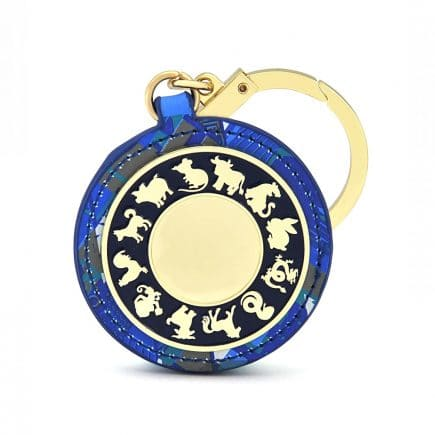 Amuleta amplificatoare a sumei lui 10 - Amuleta suma 10 albastra cu patratul magic-5563