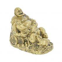 Buddha razand cu sobolani pe monede si pepite-0