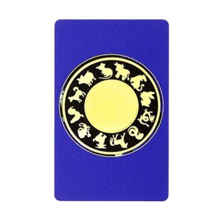 Card amuleta amplificatoare a sumei lui 10 - Amuleta suma 10 albastra cu patratul magic-5950