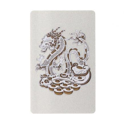 Card cu amuleta Anului 2020 cu Sobolan, Lotus si Dragon-5952