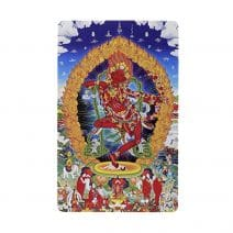 Card cu amuleta de protectie cu Tara Rosie si mantra om Kurukulle svaha-0