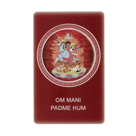 Card cu amuleta pentru protejarea familiei - Dorje Drolo - Guru Rinpoche - Scorpion si om mani padme hum-0