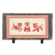 Placheta ( placa ) cu cei trei gardieni celesti, cei trei lei sau cei trei gardieni divini - pe piatra-0