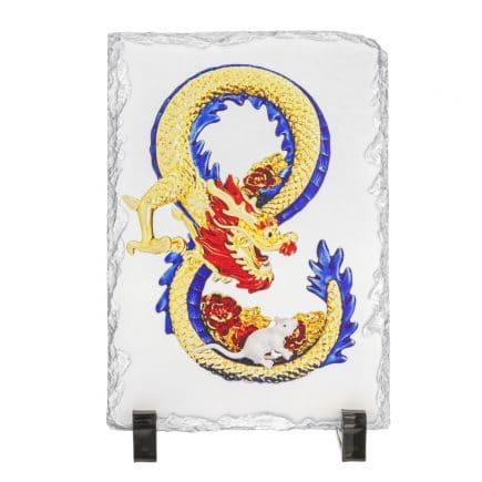 Placheta ( placa ) cu Dragon si Sobolan - Mangusta in forma de cifra 8 (opt)-0