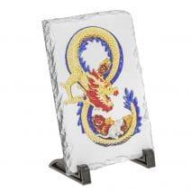Placheta ( placa ) cu Dragon si Sobolan - Mangusta in forma de cifra 8 (opt)-5785