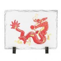 Placa (placheta) cu Dragon Rosu cu bila de foc, impotriva conflictelor-0
