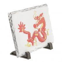 Placa (placheta) cu Dragon Rosu cu bila de foc, impotriva conflictelor-5777