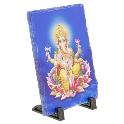 Placheta ( placa ) cu Ganesh pe floare de lotus-5797