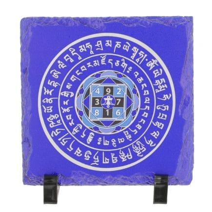 Placa (placheta) de amplificatoare a sumei lui 10 - Amuleta suma 10 albastra cu patratul magic-0