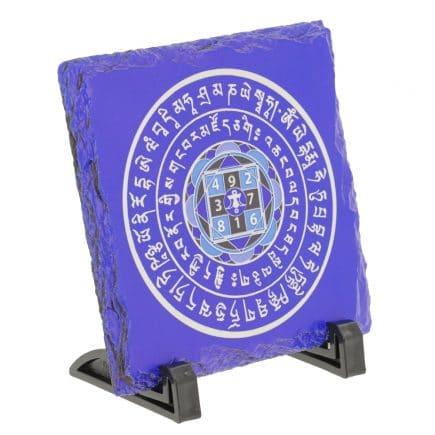 Placa (placheta) de amplificatoare a sumei lui 10 - Amuleta suma 10 albastra cu patratul magic-5773