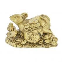 Sobolan auriu cu Ru Yi si sac cu bani pe monede si pepite-0