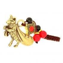 Amuleta cu Sobolan auriu din metal cu sacul abundentei-5738
