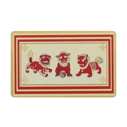 Card de protectie cu cei trei gardieni celesti, cei trei lei sau cei trei gardieni divini-0