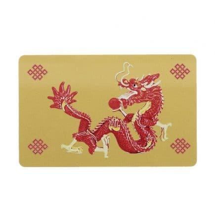 Card de protectie Dragon Rosu cu bila de foc, impotriva conflictelor si nodul mistic-0