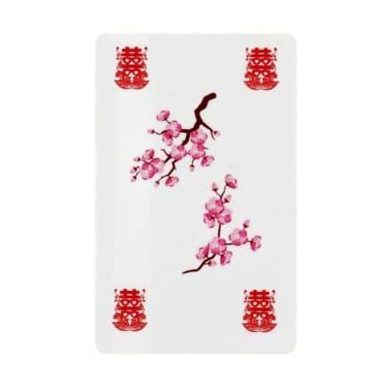 Card dubla fericire amuleta cu simbolul dublei fericiri, rate mandarine si flori de piersic-6026