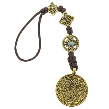 Amuleta cu cele 8 simboluri tibetane, dubla dorje, foarea de lotus si nodul mistic-6112