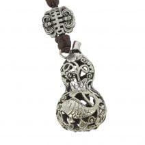 Amuleta cu Wu Loui cu pesti si floarea de lotus 03