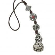 Amuleta cu Wu Loui cu pesti si floarea de lotus 02
