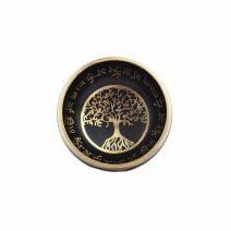 Vas tibetan - Bol negru cu pomul sau copacul vietii-6210