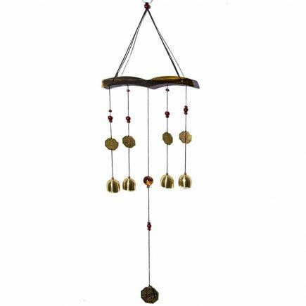 Clopotei de vant cu 4 tuburi aurii pentru noroc si prosperitate-0