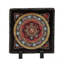 Placheta ( placa ) cu cele 8 simboluri tibetane si mantra de protectie