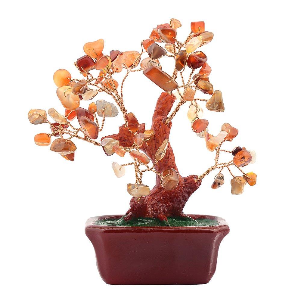 Copac cu agate pe suport dreptunghiular ceramic