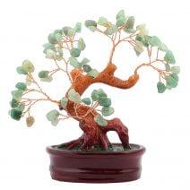 Copac cu aventurin pe suport oval ceramic remediu Feng Shui