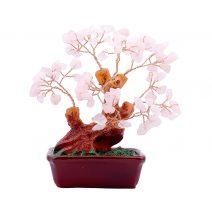 Copacel cu cuart roz pe suport ceramic mediu