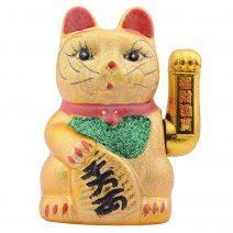 Pisica norocoasa Maneki Neko aurie 30 cm