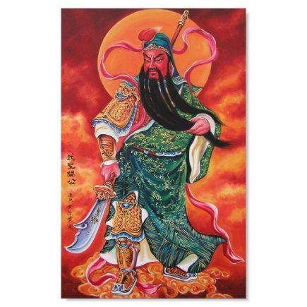 Tablou Feng Shui cu Kwan Kung (Guan Gong, Kuan Kong)