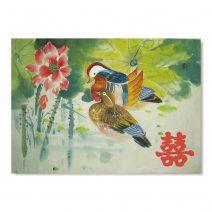 Tablou Feng Shui cu rate mandarin si simbolul dubei fericiri