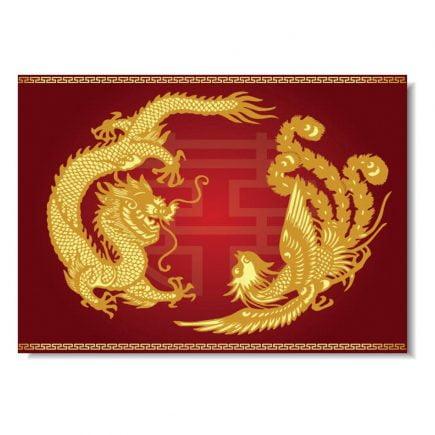 Tablou Feng Shui cu Dragon si Phoenix 3