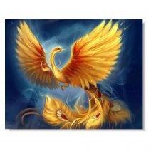 tablou feng shui cu pasarea phoenix